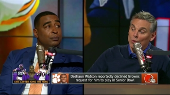 Cris Carter's message for Deshaun Watson about skipping the Sr. Bowl | THE HERD