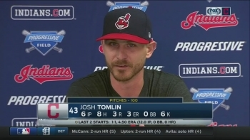 Josh Tomlin on 'frustrating' game