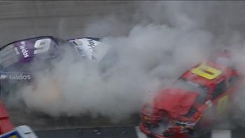 Garrett Smithley Slams into Bubba Wallace at Bristol | 2017 XFINITY SERIES | FOX NASCAR