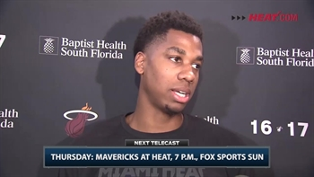 Heat's Hassan Whiteside on defending Mavs' Dirk Nowitzki