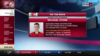 Coyotes trade Michael Stone to Flames