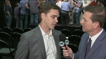 Luc Robitaille after John Stevens introduction: 'It's a great day to be a King'