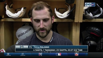 Foligno: Jackets were 'too cute,' needed to be more selfish in loss