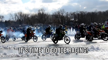 Motorcycle Ice Racing in WI Raises Money for Charity