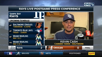 Kevin Cash says Rays adjusted pitching use because of possible weather delay