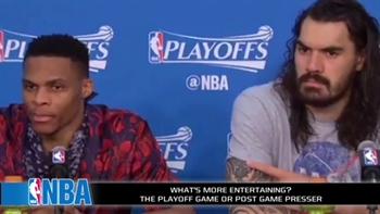 Are the NBA postgame press conferences more entertaining than the games?