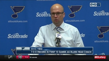 Yeo after Blues lose to Panthers: 'They grabbed the game back from us'