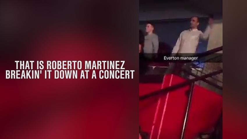 Roberto Martinez gets down at a Jason Derulo show