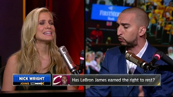 Does LeBron James deserve the right to rest? Nick Wright and Kristine Leahy debate | THE HERD