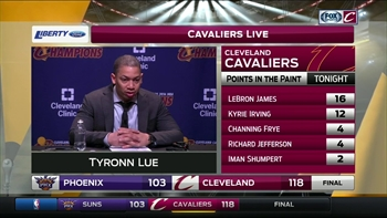 Cavs head coach Tyronn Lue shares his thoughts on Iman Shumpert's success with starting unit