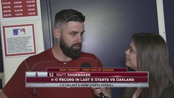 Matt Shoemaker picks up first win of season