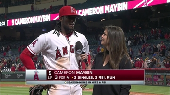 Cameron Maybin drives in 3 runs in victory over Oakland