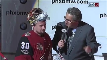 Langhamer rescues Coyotes in NHL debut