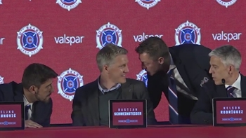 Journalist mistakenly asks Schweinsteiger if he can win the World Cup with Chicago Fire