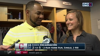 Edwin Encarnacion describes hitting behind Michael Brantley in one word