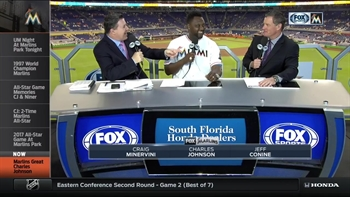 Charles Johnson stops by Marlins LIVE pregame show