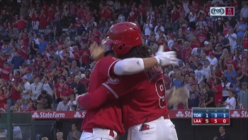 HIGHLIGHTS: Simmons' grand slam, Calhoun's diving catch carry the Angels