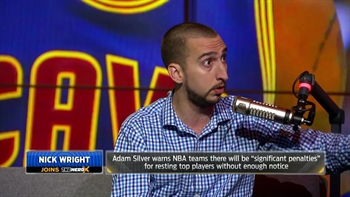 Nick Wright solves the NBA's problem with healthy stars sitting out games | THE HERD