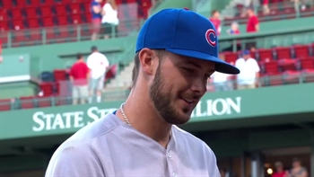 Kris Bryant talks about his Boston connection after win vs. Red Sox