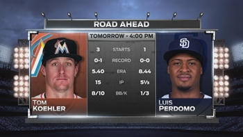 Tom Koehler on mound as Marlins go for series win vs. Padres