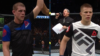 The judges gave Joe Lauzon the win Saturday night, and Joe Lauzon doesn't agree