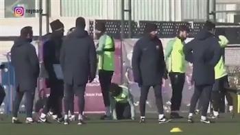 Neymar and Suarez prank Pique