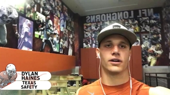 Dylan Haines Texas Football Weight Room Tour