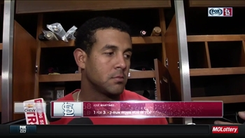 Martinez on his first major-league homer, curtain call