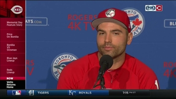 Cincinnati Reds' Votto Returns Home to Toronto
