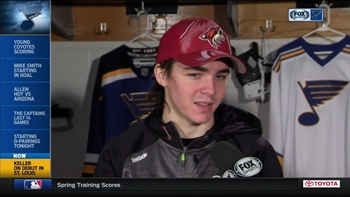 Coyotes' Keller on making his NHL debut in hometown St. Louis