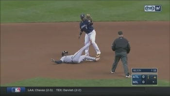 WATCH: Ryan Braun throws out runner at second base