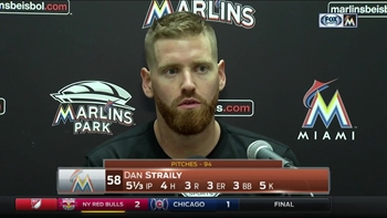 Dan Straily on 3 straight walks: They laid off some good pitches