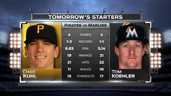 Koehler, Kuhl square off in finale between Marlins, Pirates