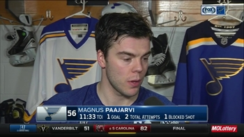 Pajaarvi on Blues' call-ups: 'It's fun to bring all the guys up'
