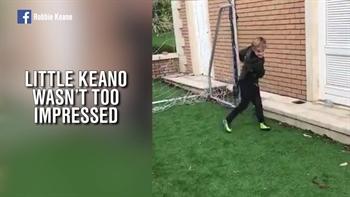 Robbie Keane schools his son