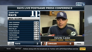 Kevin Cash: 'We'll bounce back tomorrow'