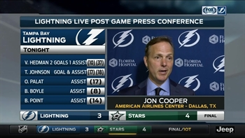 Jon Cooper: We left it all on the ice out there