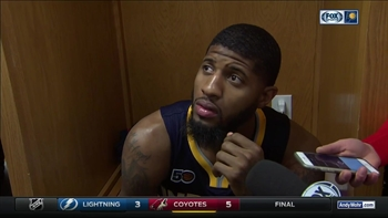 Paul George reacts after ejection in Pacers' loss to Jazz