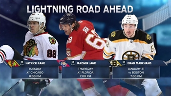 Lightning road trip heads to Chicago after loss in Arizona