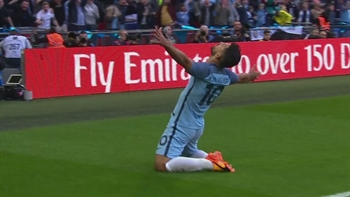 Sergio Agüero finishes breakaway | 2016-17 FA Cup Highlights