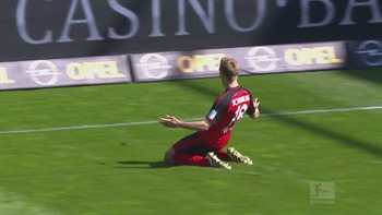 Nils Petersen gives SC Freiburg the lead  | 2016-17 Bundesliga Highlights